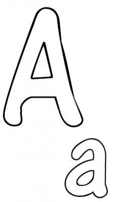 Alphabet Zum Ausmalen Oder Kneten Kostenloser Ausdruck