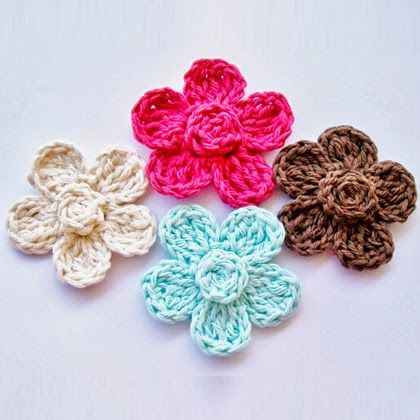 Free Crochet Flower Pattern Crocheted Flowers Pinterest Free
