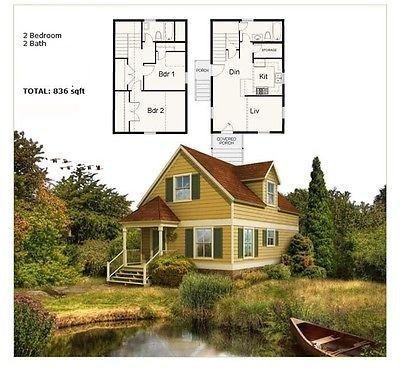 Prefab Homes Panelized Steel Framing Kit NS1832 784 sqft 2BR 2BA FREE SHIPPING