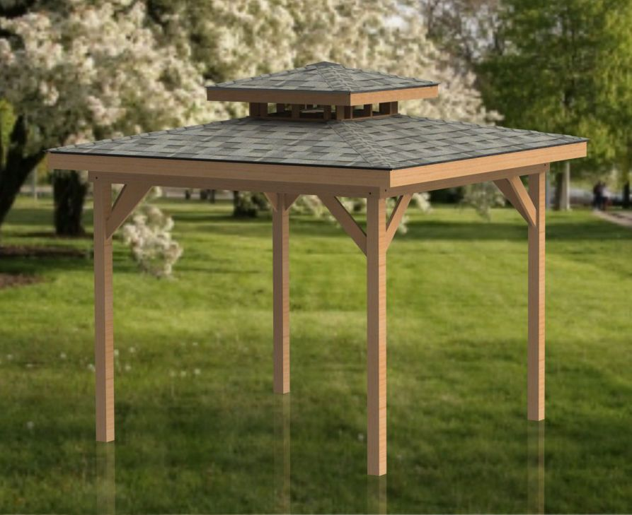 12 X 12 Double Hip Roof Gazebo Building Plans Perfect For Hot Tubs Hot Tub Gazebo Gazebo Gazebo Plans