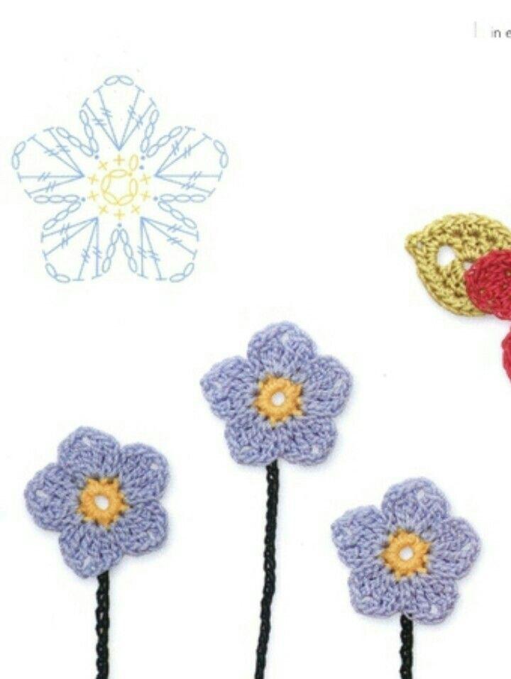 Pin de Mikka en cvijet | Pinterest | Ganchillo, Flores y Flores ...