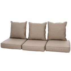 Clara Outdoor Wicker Sofa Cushion Set Made With Sunbrella Fabric   Outdoor  Living   Patio Furniture   Replacement Cushions