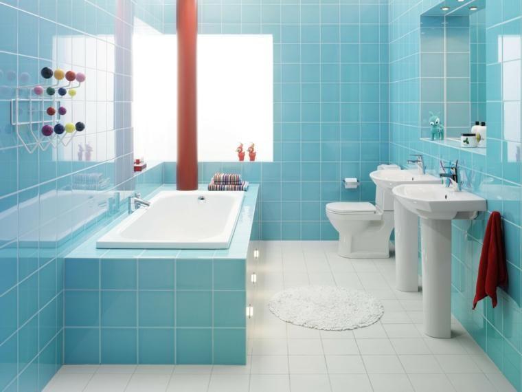 Moderne Badezimmer In Blauer Farbe Fur Raume Voller Harmonie