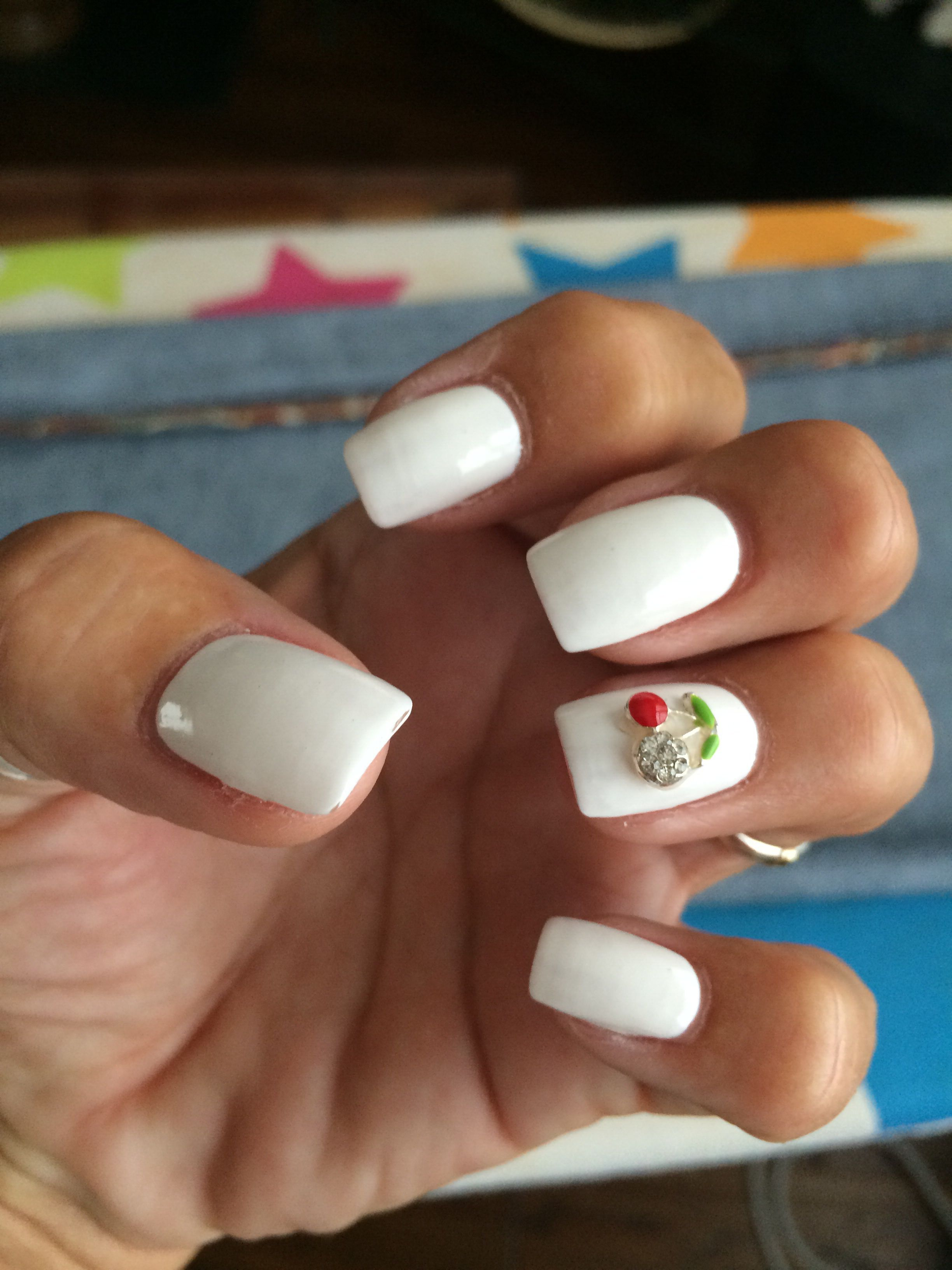Popular fashion nails uxbridge - Created By Diamond Nails In Uxbridge With A Jewelled Cherry On The Top