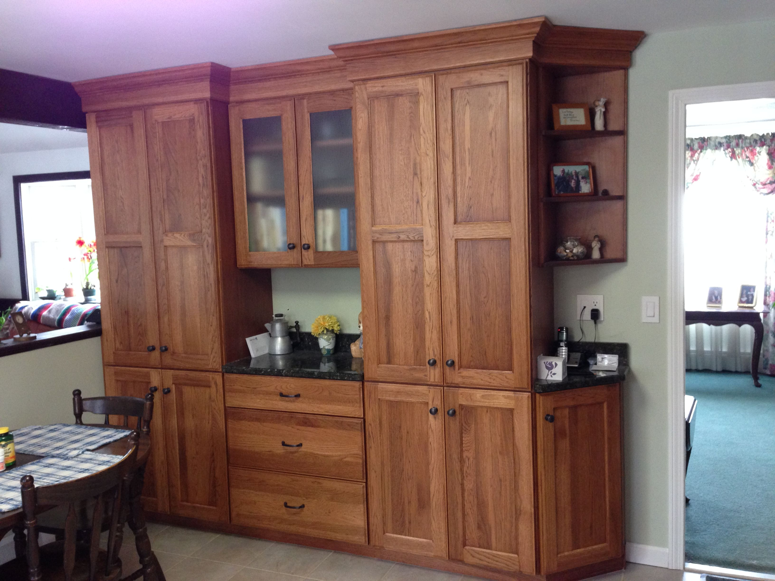 Dynasty By Omega Pecan Wood From Ragonese Kitchen And Bath Kitchen And Bath Tall Cabinet Storage Home Decor