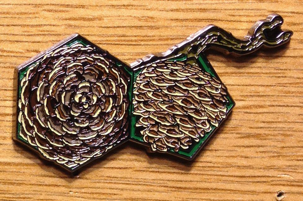 Fibonacci Pine Cone Festival Hat Lapel Pin By Nepkire On Etsy #etsy  #nepkire #