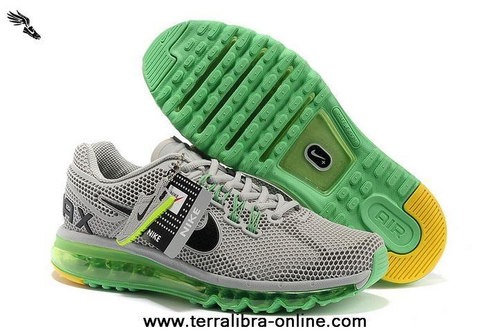 huge discount 2816c 7af98 Mens Shoes Nike Air Max 2013 LG Hive Grey Green Black For Sale