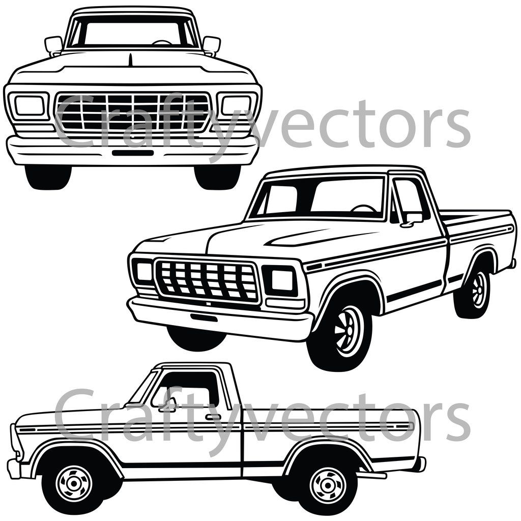 Ford F100 Truck Vector In