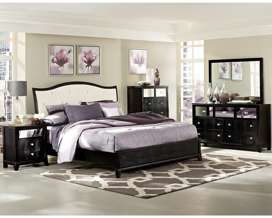 Queen Bedroom Set 2299-QBS Jacqueline, Furniture Factory Direct ...