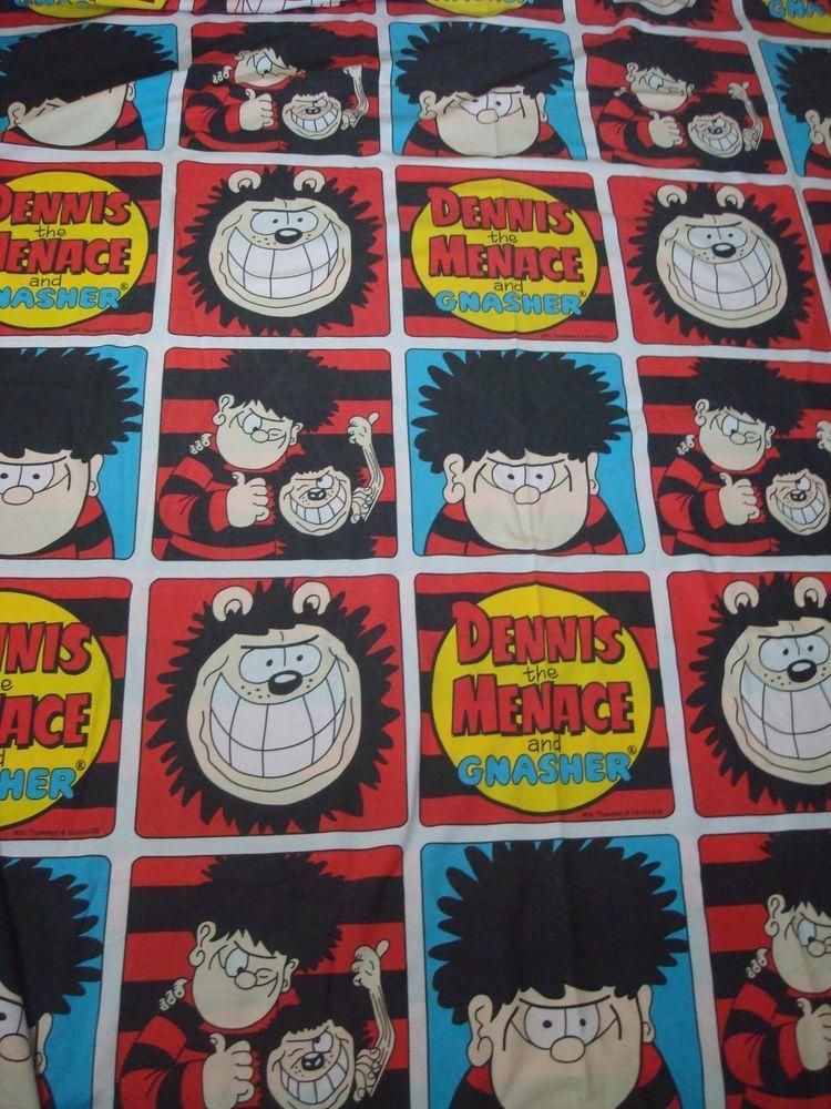 The Beano Dennis Menace Gnasher Double Duvet Cover Tano Childrens