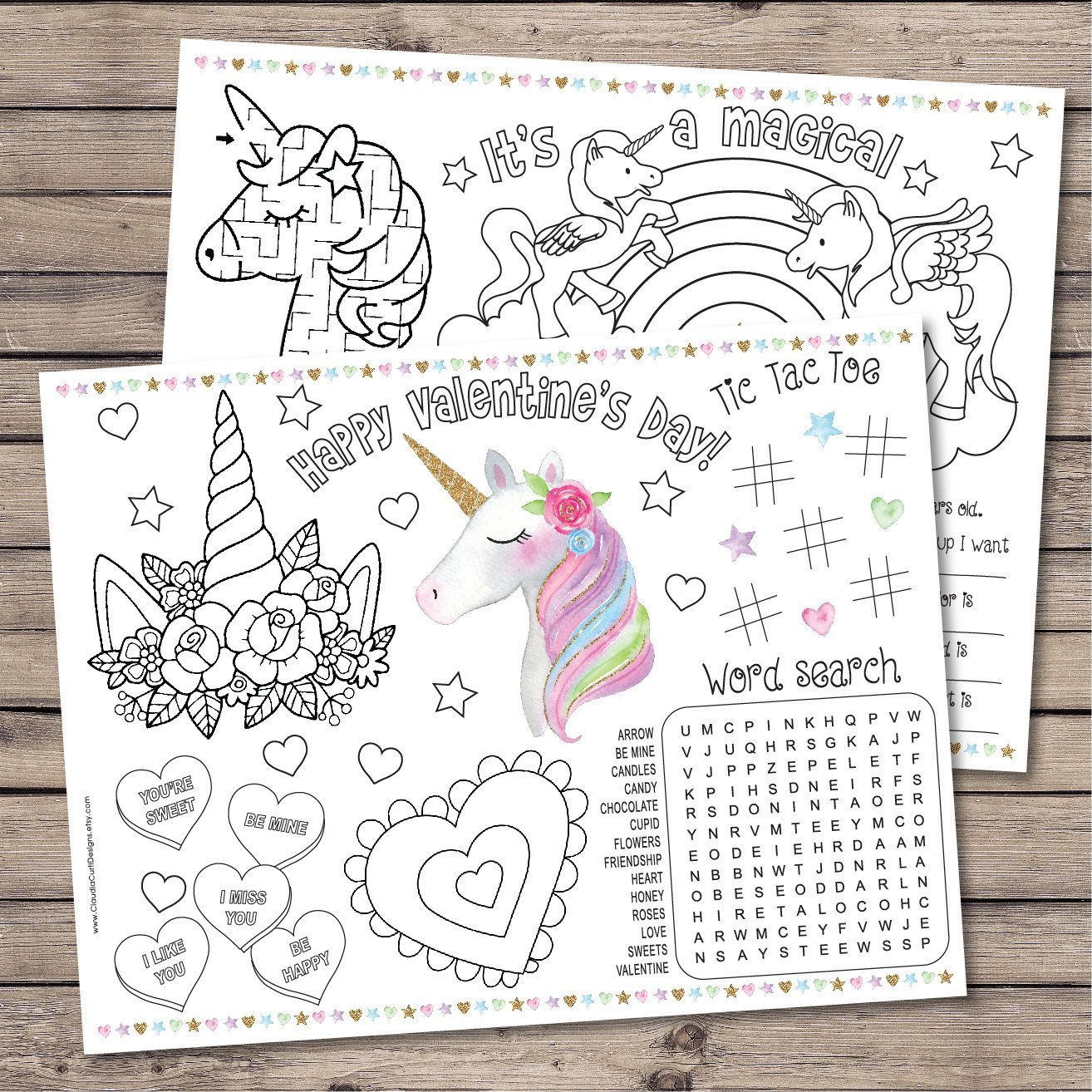 Valentine S Day Coloring Pages Unicorn Valentine Valentine Exchange Magical Party In 2020 Valentines Day Coloring Page Kids Valentines Activities Unicorn Valentine