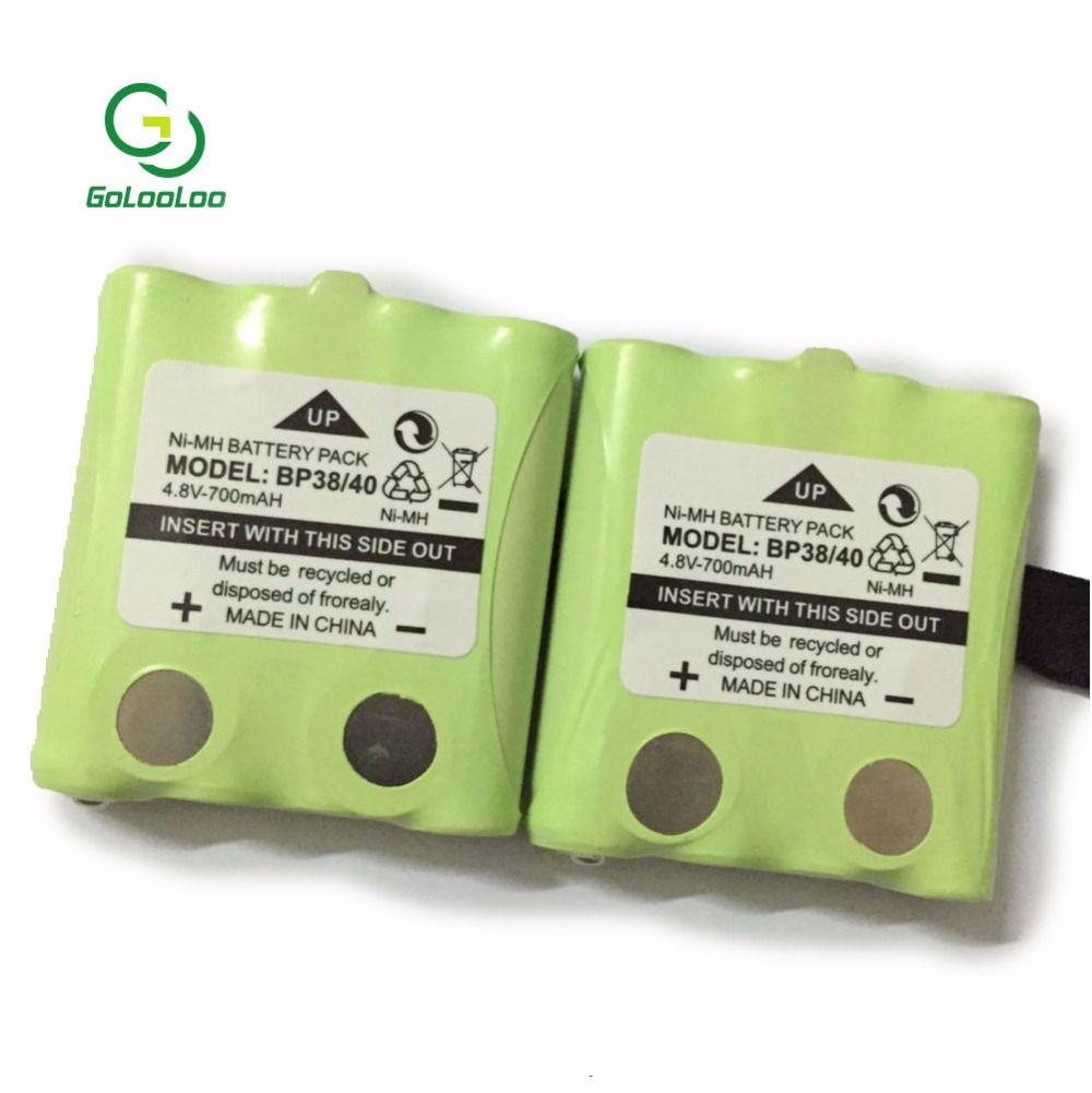 Bpi 2pcs Lot 4 8v 700mah Ni Mh Rechargeable Battery Pack For Uniden Bp 38 Bp 40 Cool Things To Buy Battery Pack Battery