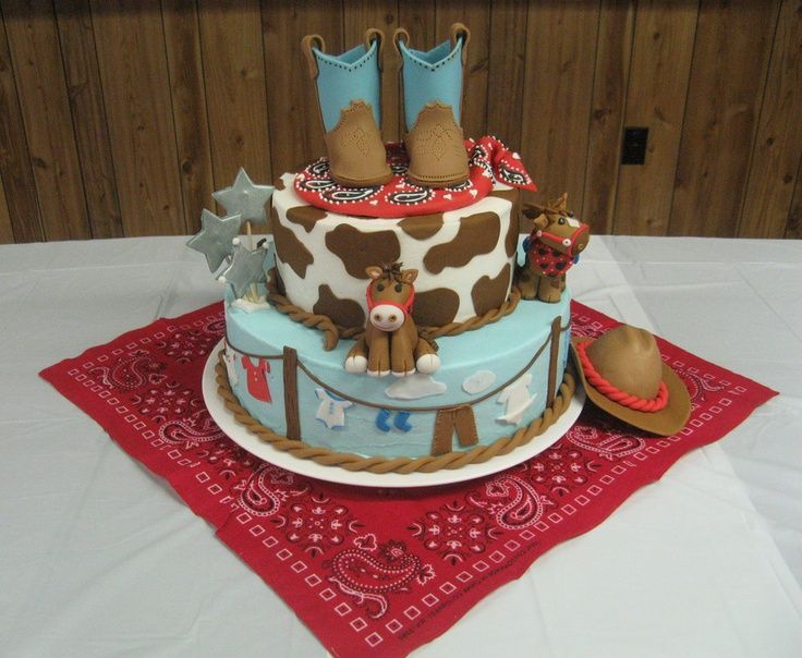 Wetern Theme Baby Cakes Western Theme Baby Shower Cake Party