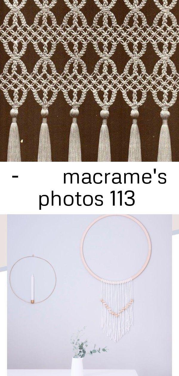 По-творим макраме macrame's photos 113 #wanddekoselbermachen