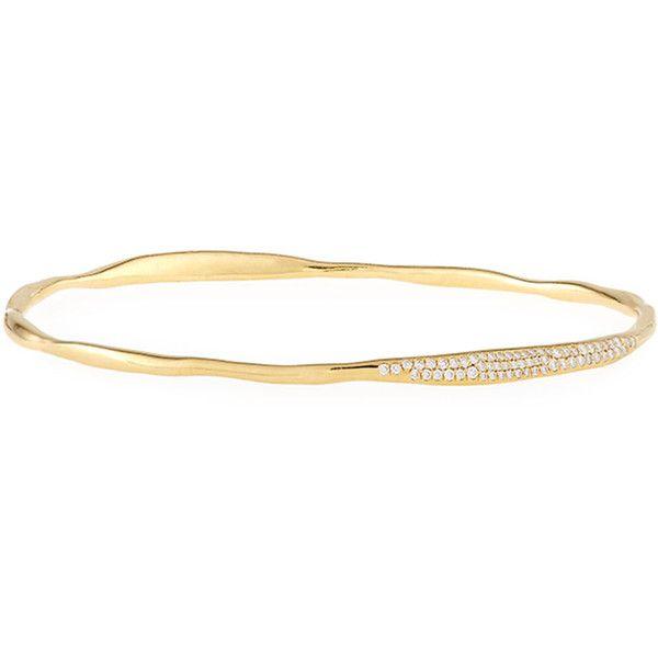 Ippolita Stardust 18k Gold Cuff Bracelet with Diamonds 76h4hoiwpN