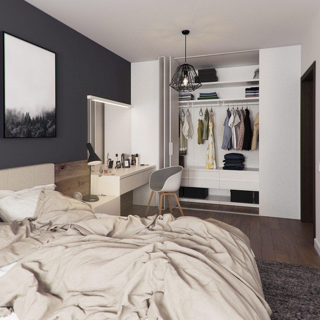Attraktiv Skandinavisches Schlafzimmer Idee