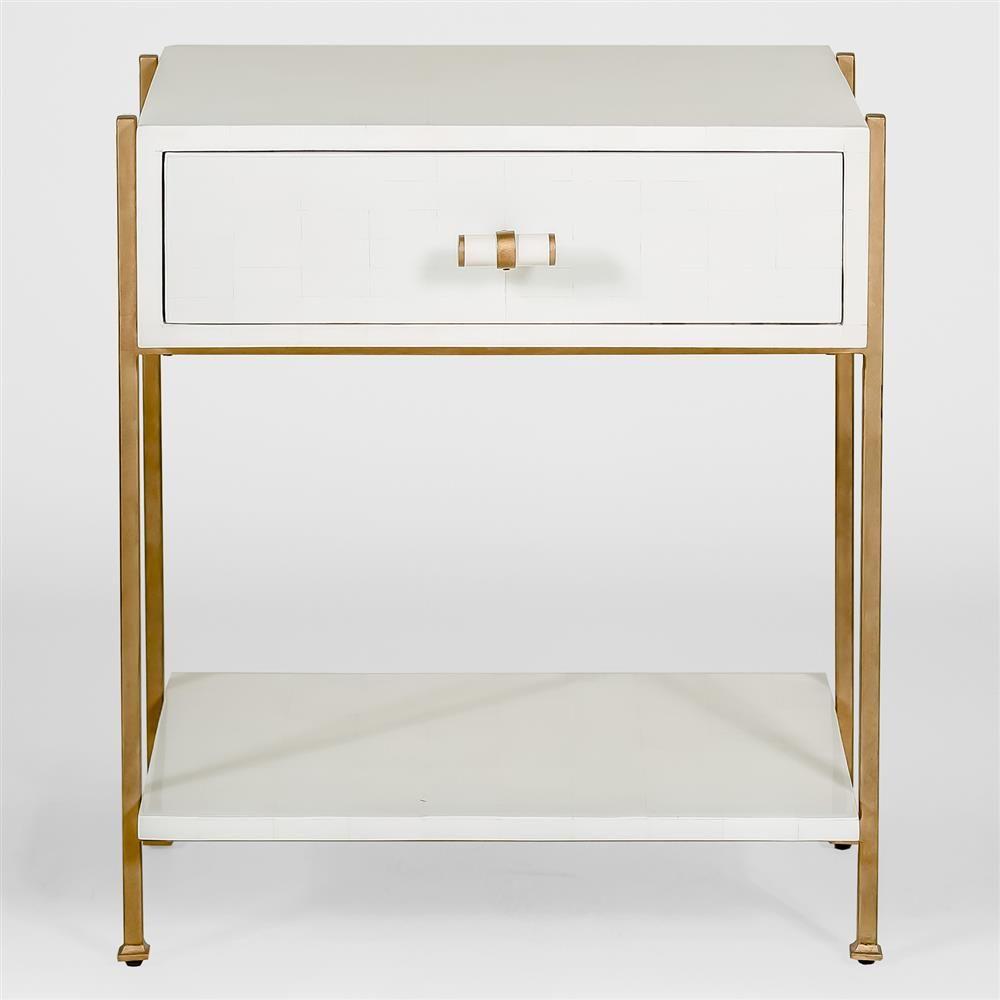 Brosnan Modern Classic Bone Gold End Table In 2021 Modern Classic Furniture Gold End Table Furniture
