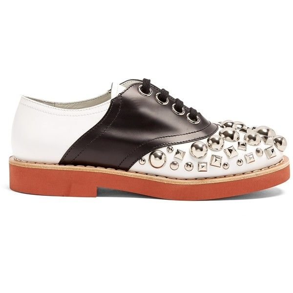 Best Place Online Miu Miu Stud-embellished lace-up leather shoes Exclusive Cheap Online Very Cheap Price WWrmtf