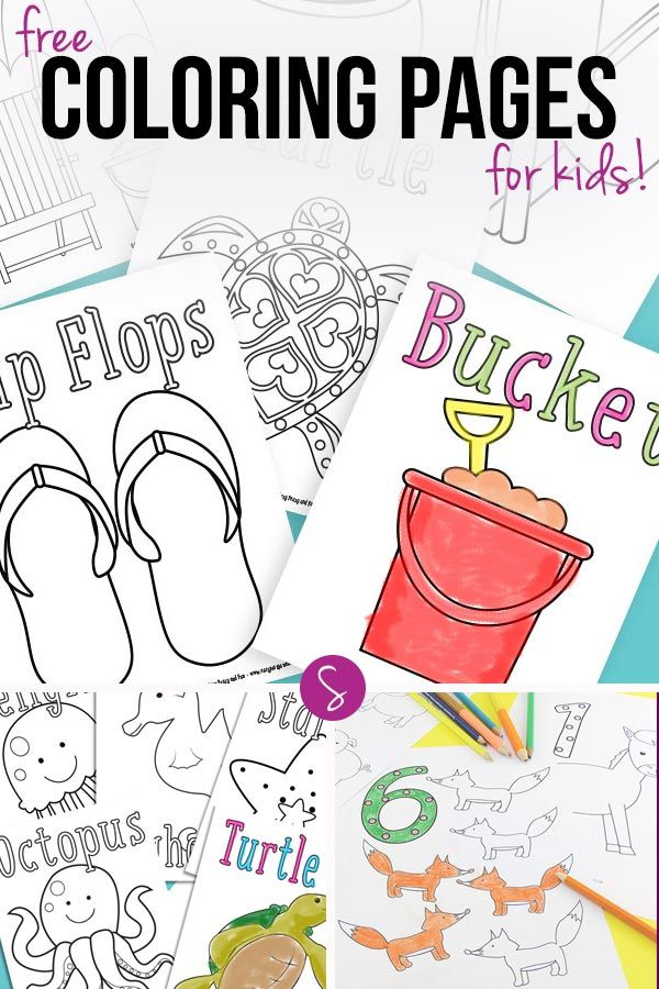 350+ Free Coloring Pages for Kids to Color When They\'re Bored ...