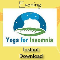Yoga for Insomnia Evening Practice This static practice with long holds is designed to wind you down and prepare you for sleep. It is a cooling practice to help reduce inflammation in your body with spinal twists, forward folds, withdrawal of your senses inwards and deep relaxation.
