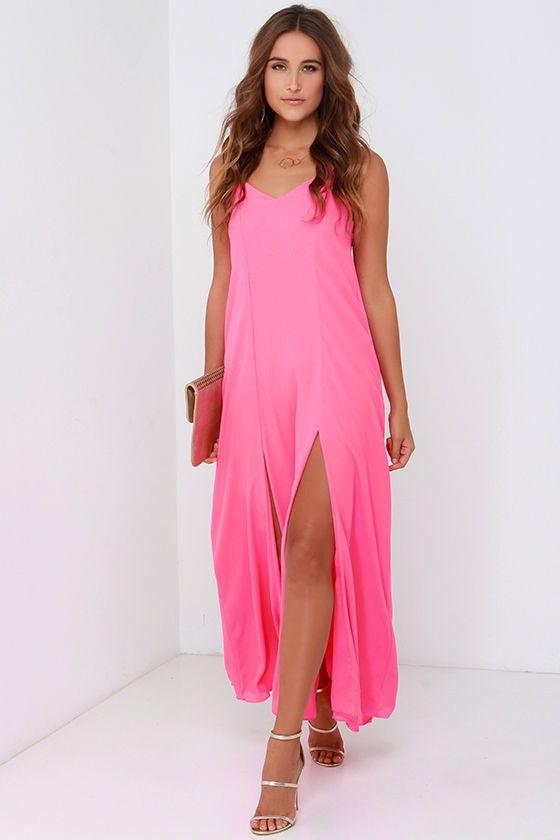 Plume Oneself Hot Pink Maxi Dress | Pink maxi, Hot pink and Maxi ...