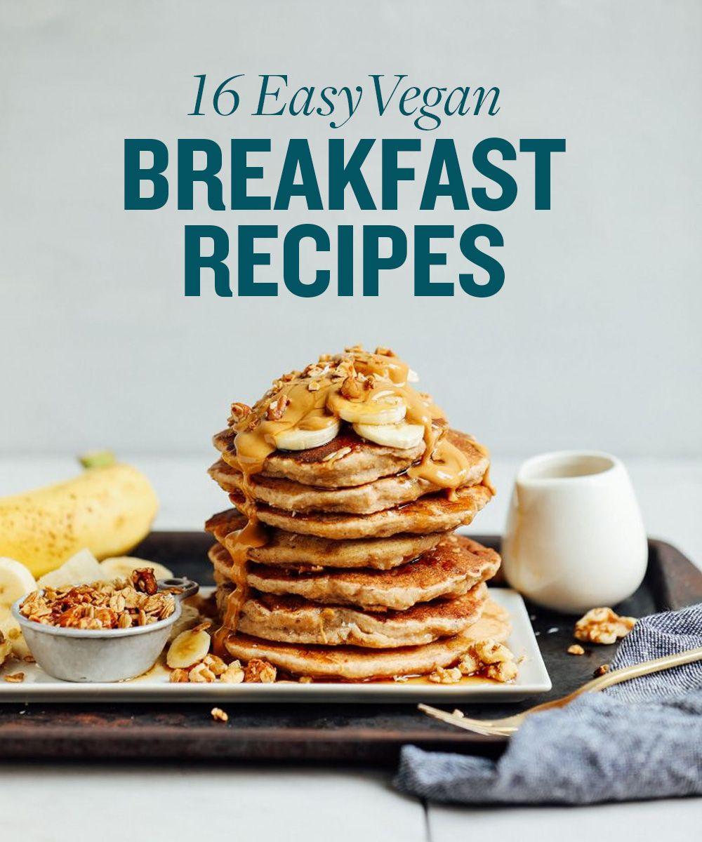 16 Best Vegan Breakfast Recipes Minimalist Baker Banana Walnut Pancakes Vegan Breakfast Easy Walnut Pancakes