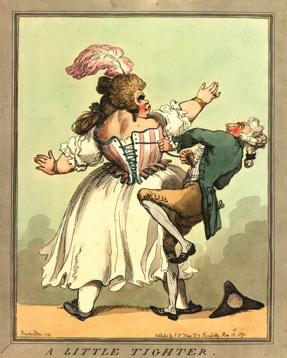 A Little Tighter, 1791 By Thomas Rowlandson