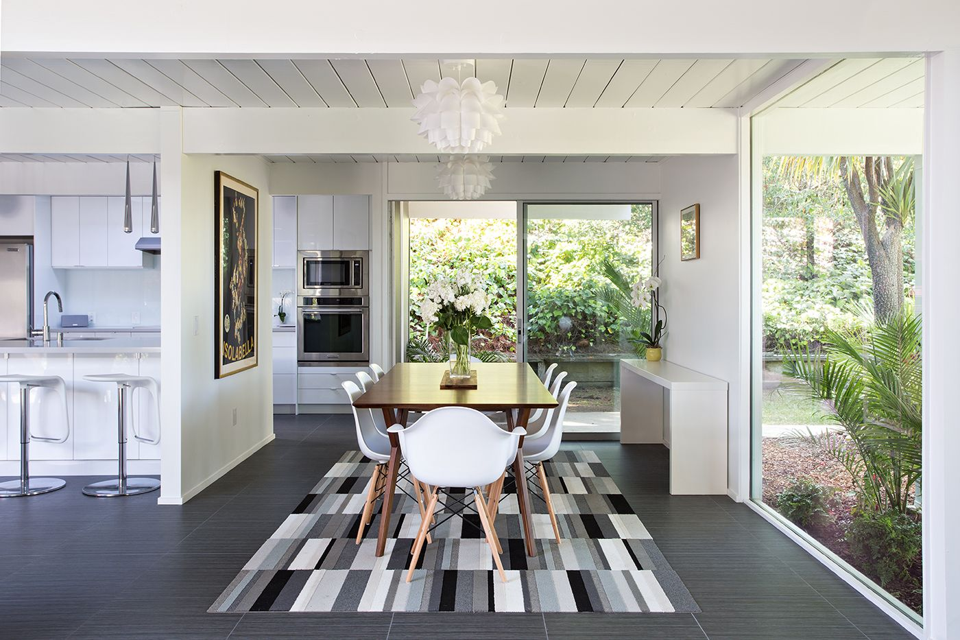 Dining Room Remodel Pictures Amazing Burlingame Eichler With Open Plan Dining Room Table  Eichler Design Inspiration