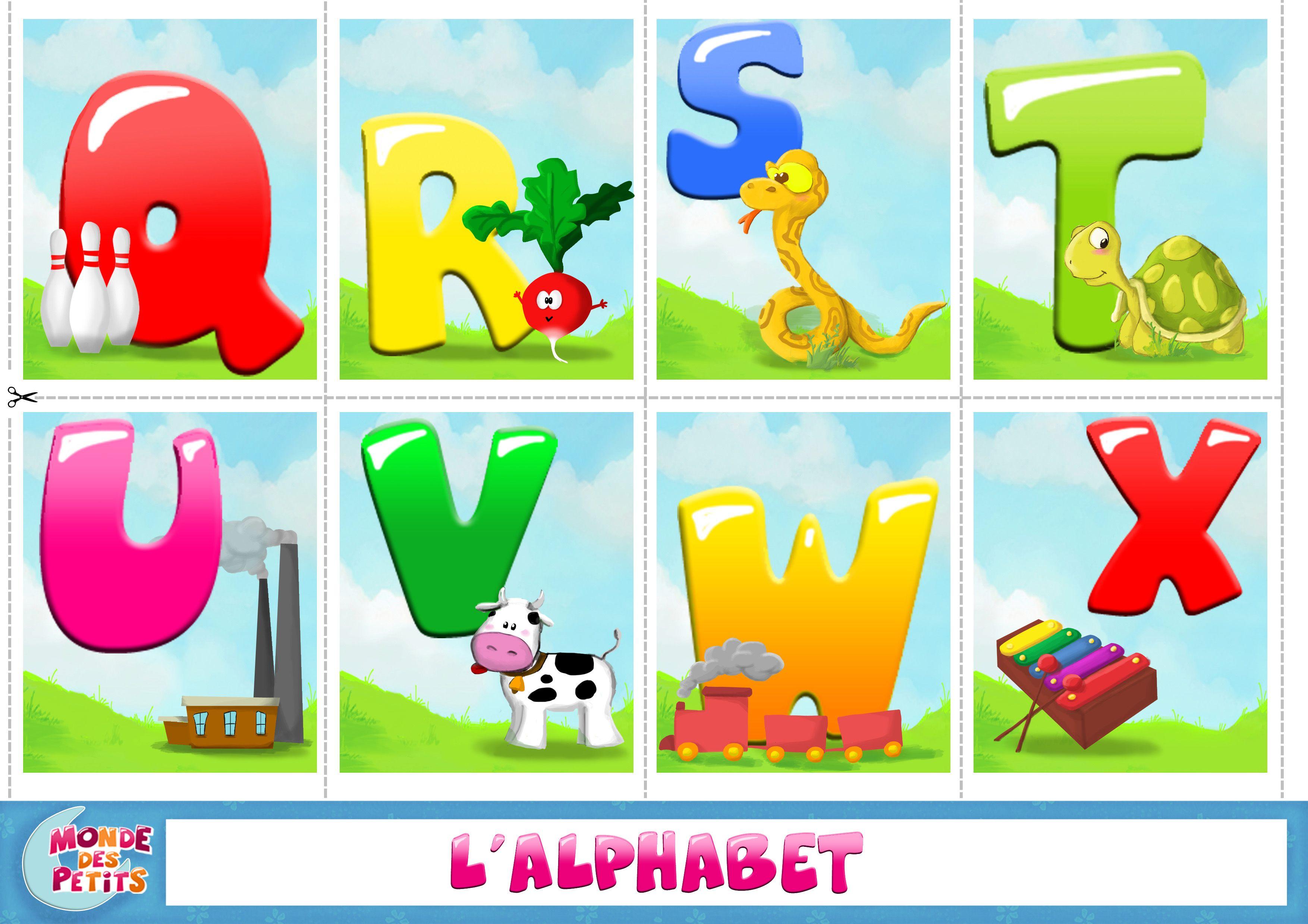cartes imprimer apprendre l 39 alphabet activit. Black Bedroom Furniture Sets. Home Design Ideas