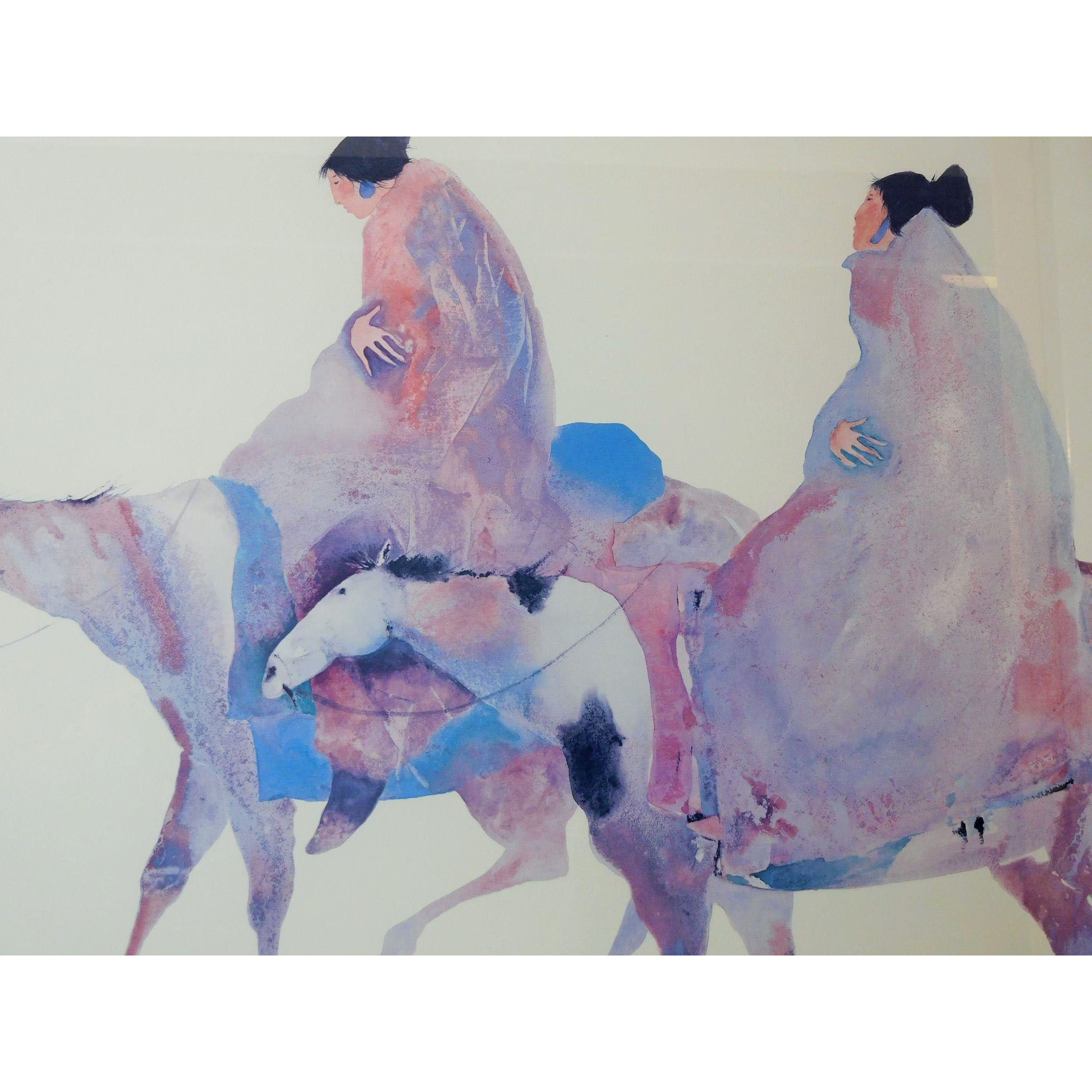 """Carol Grigg Lithograph """"The Guardians"""" Large 40"""" x 28"""" Gango Gallery from theglossedandfound on Ruby Lane"""