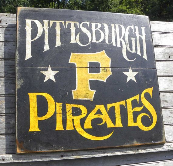 Pittsburgh Pirate Sign Hand Painted Original Art