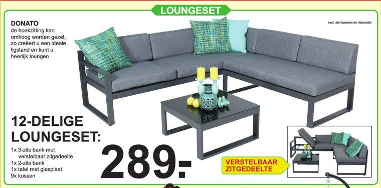 Loungeset Donato 210x200x70 cm | Van Cranenbroek | Home