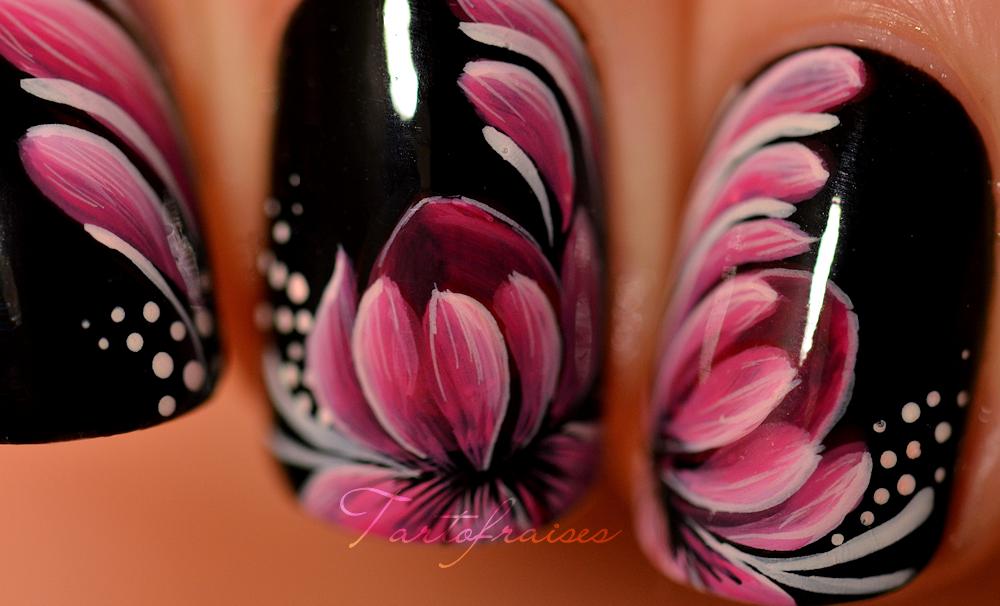 Nail Art Zhostovo Fleur De Lotus Happy Hands Pinterest Lotus