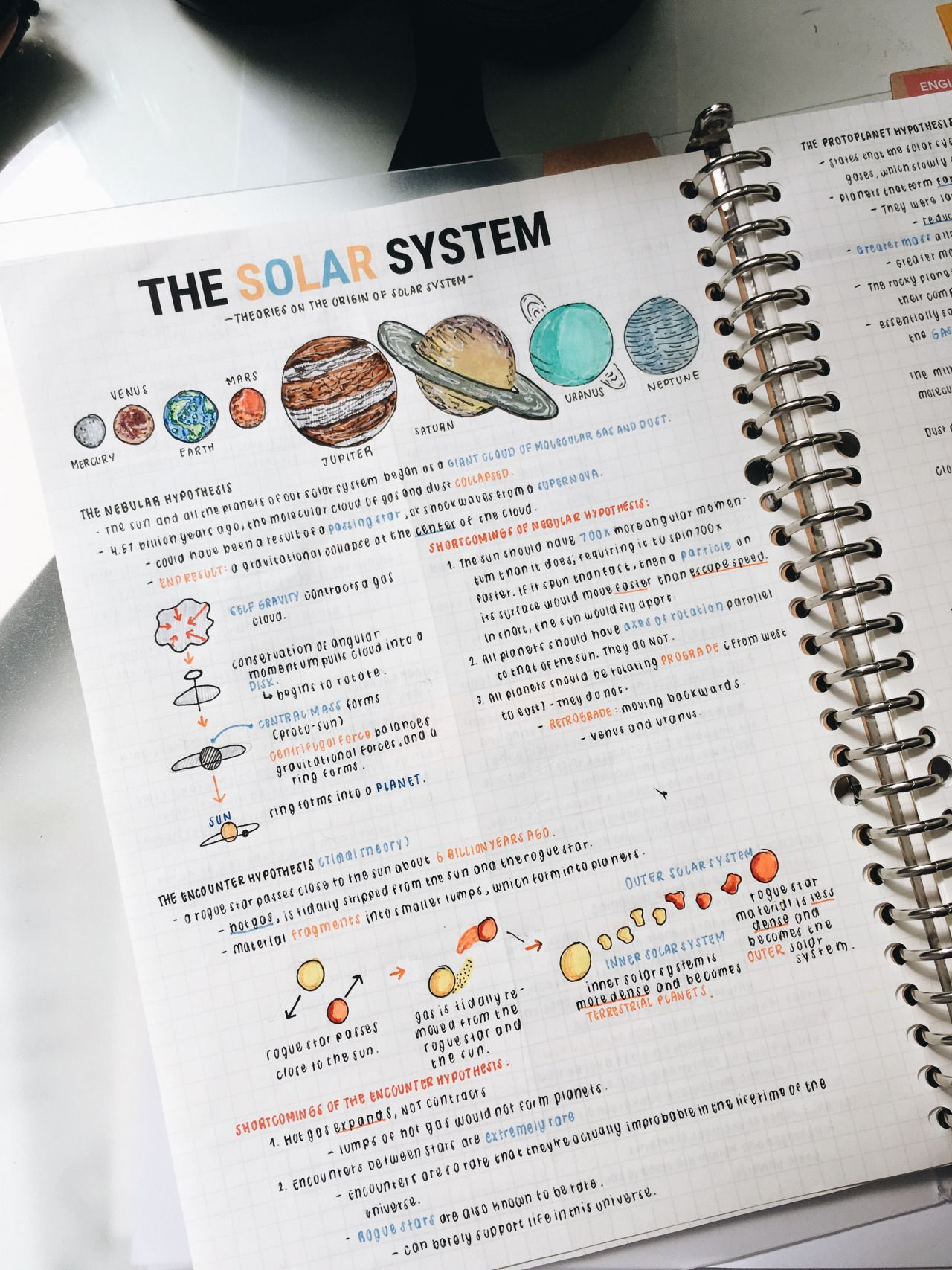 solar system science lecture notes