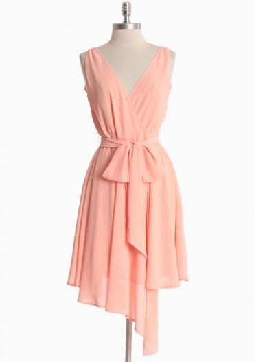 Peach Chiffon Wrap Dress by BB Dakota