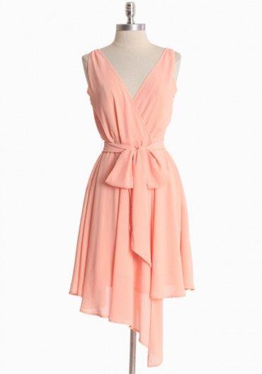 Peach Chiffon Wrap Dress by BB Dakota