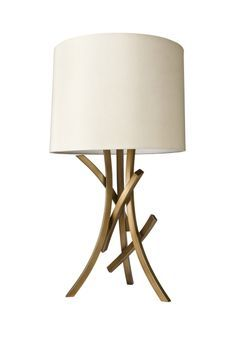 Nate Berkus Sculpted Branch Lamp Base And Drum Shade In Natural