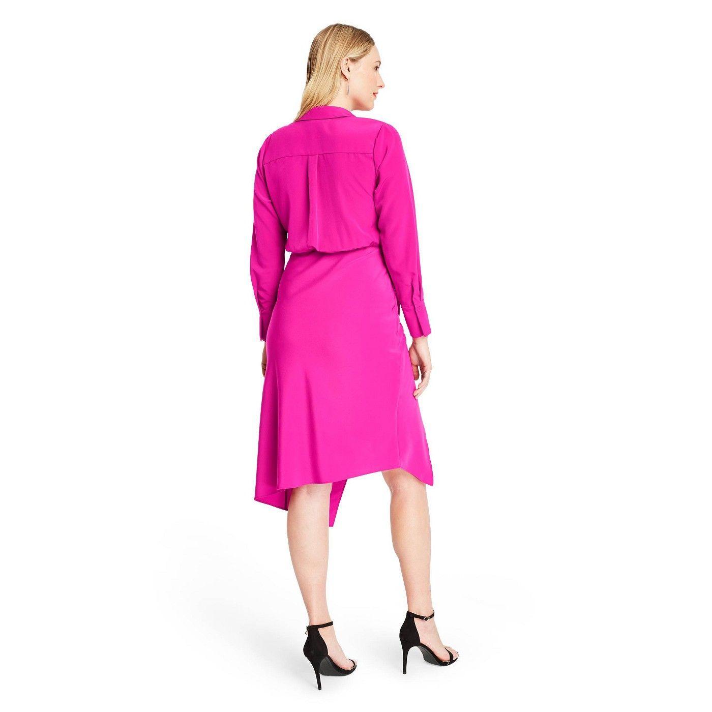 Women S Wrap Shirtdress Cushnie For Target Regular Plus Magenta Pink Sponsored Shirtdress Sponsored Cushnie Women Vintage Style Outfits Outfit 90s [ 1400 x 1400 Pixel ]