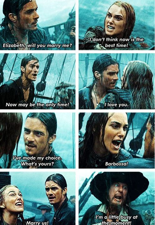 pirates of the Caribbean<<< doesn't *technically* have Sparrow in it, but whatever. Same movie.