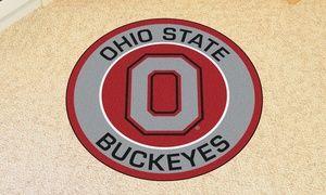 Fanmats Ncaa 27 Roundel Area Rug Mat Ohio State Ohio State University Ohio