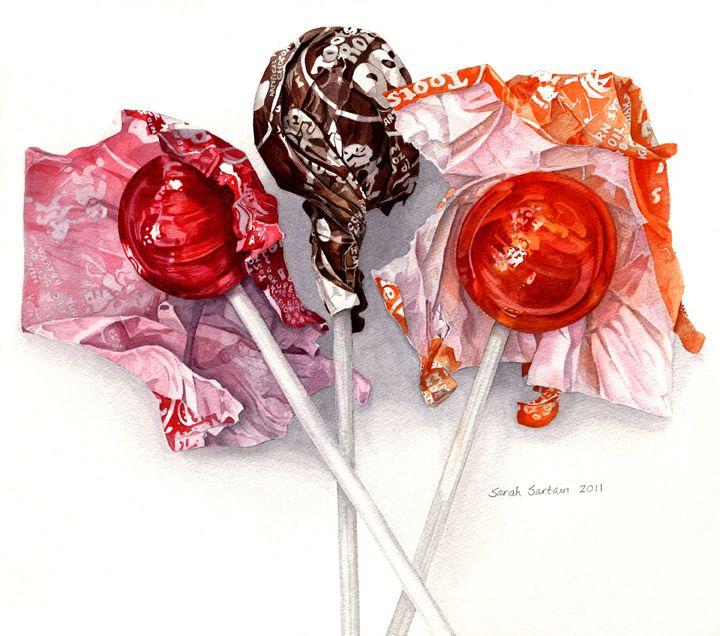 Gallery Art By Sarah Sartain Food Painting Candy Art Food Art