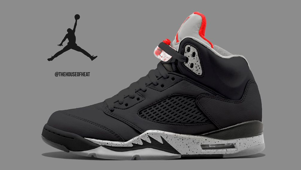 "5cbca392e60 Today s Concept   Air Jordan 5 ""Black Cement"""