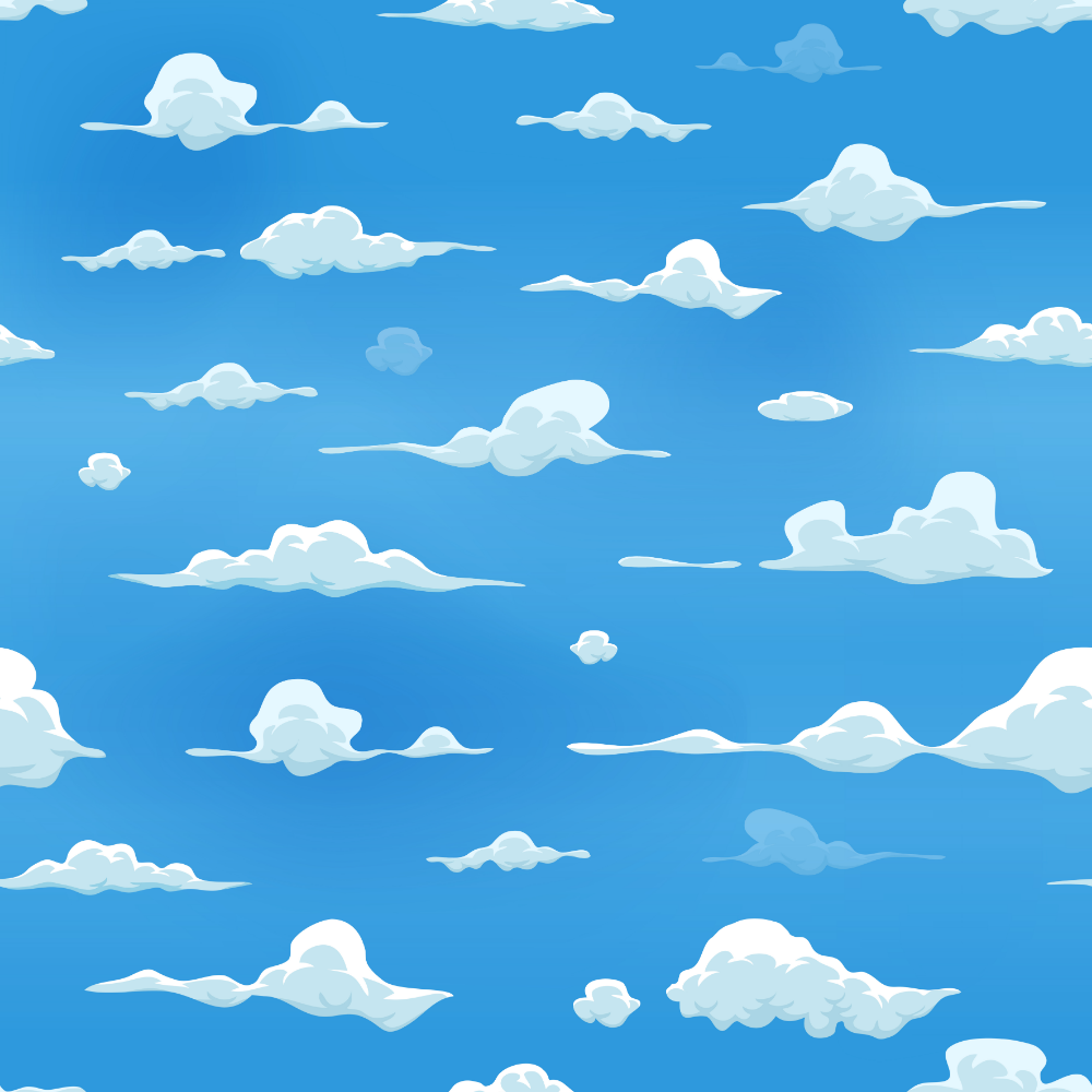 Download Seamless Clouds On Blue Sky Background Vector Art Choose From Over A Million Free Vectors Clipart Gra Cartoon Clouds Drawing Sky Blue Sky Background