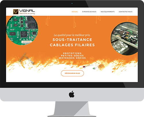 Founded in 1987, Vignal 2 Tunisie is a Tunisian company that is recognized in the field of wiring circuit and is an electric cables actor. To boost the company, we created together a new brand Vignal - Electronic & Wiring.