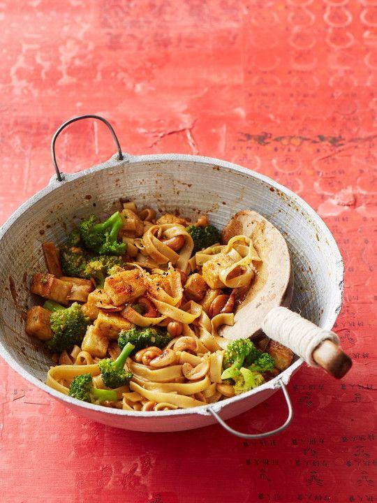Tofu-Brokkoli-Pfanne mit Cashewkernen #chickenalfredo