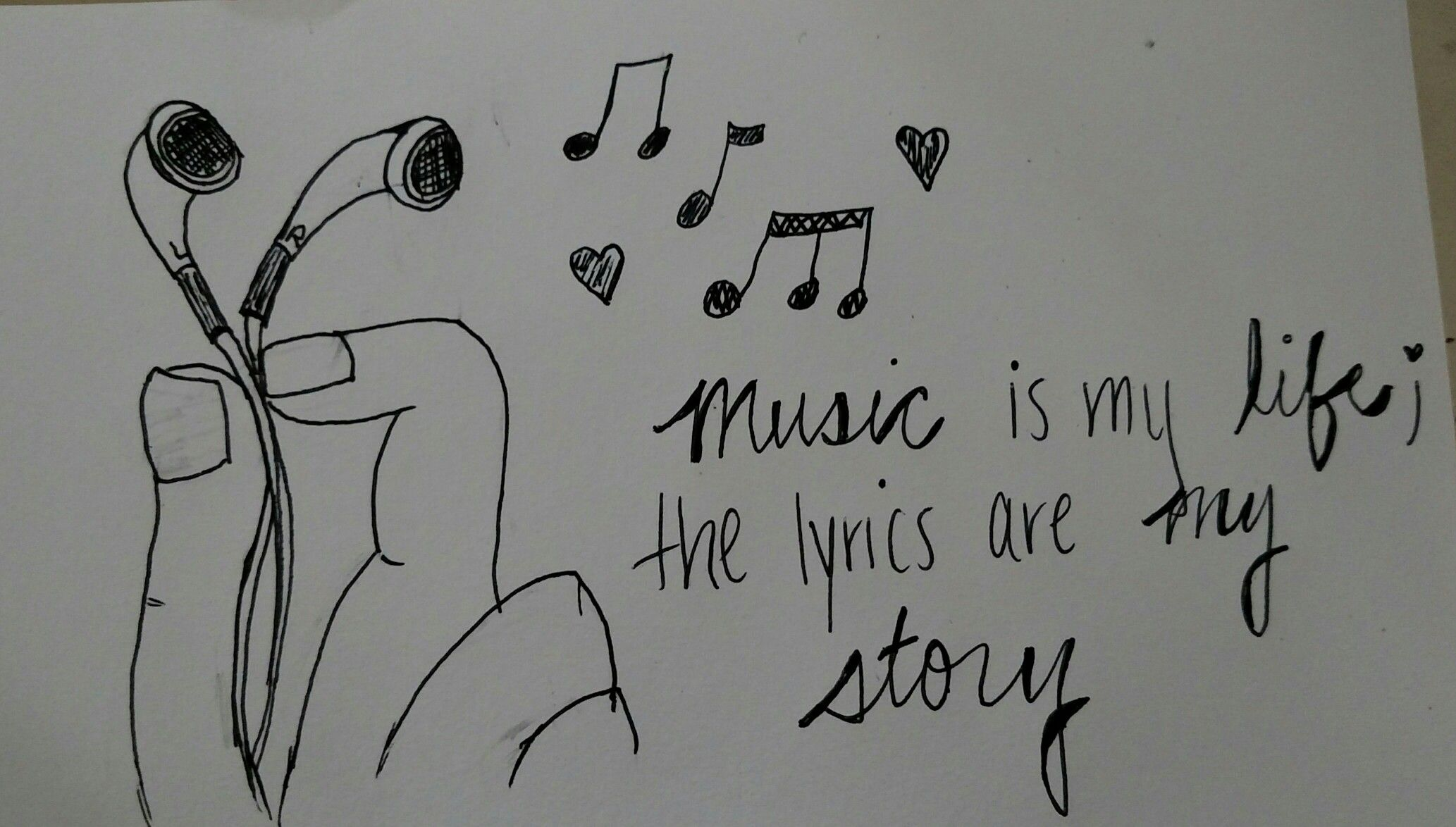 ❤Cute, original, simple drawing idea with a music quote ...