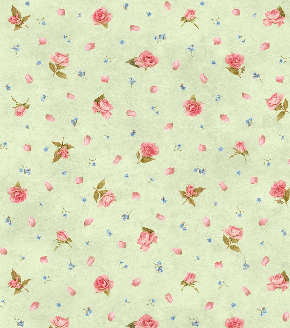 Keepsake Calico Cotton Fabric- Rose Garden Green | I\'m gonna make a ...