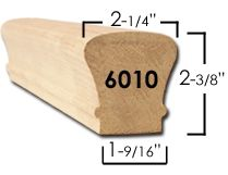 Best 6010 Bending Handrail – 8 Ft Wood Handrail Wood Handrail 400 x 300