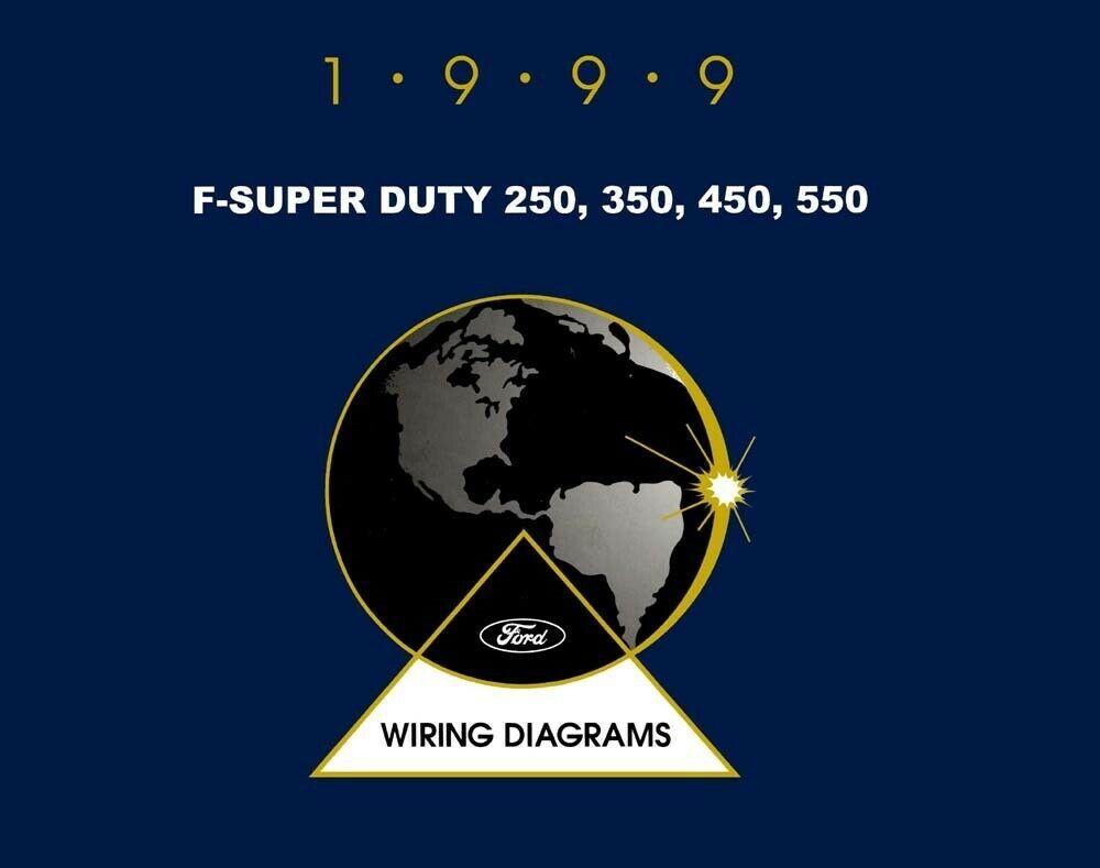 1999 Ford Truck F Super Duty F 250 550 Wiring Diagrams Schematics Book Ebay Ford Super Duty Trucks Ford Truck