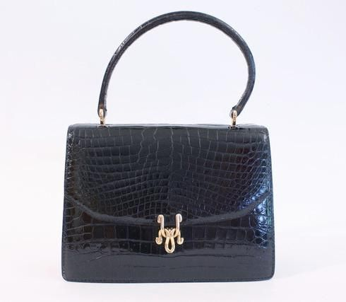 a4421ceefaa Vintage 70 s Gucci crocodile bag at Rice and Beans Vintage